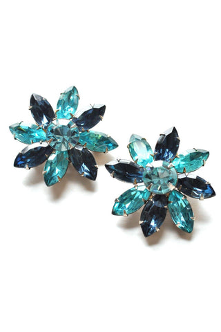60s__Vintage__Statement Floral Clip-On Earrings
