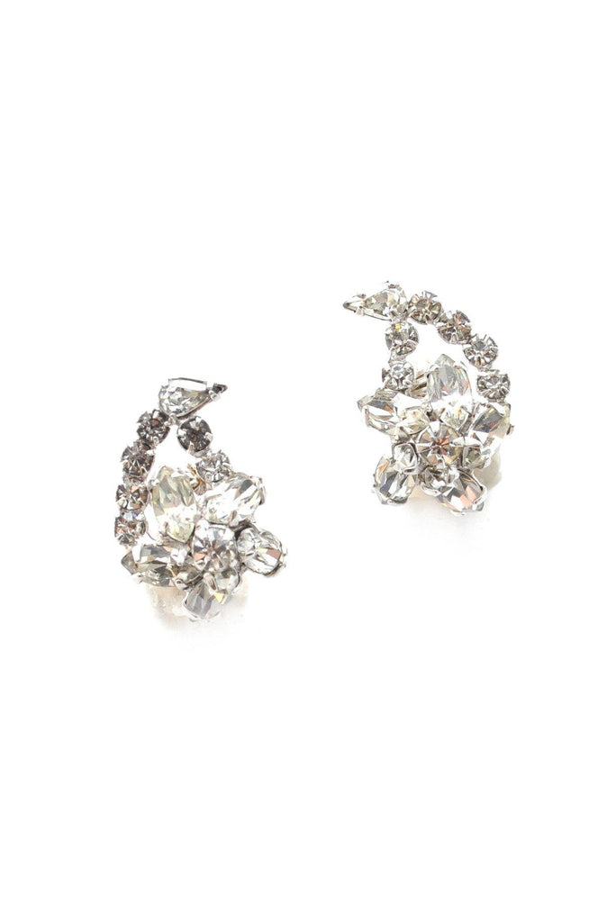 50s__Marvella__Rhinestone Crawler Clip-On Earrings