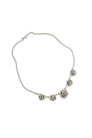 50's__Vintage__Dainty Floral Necklace