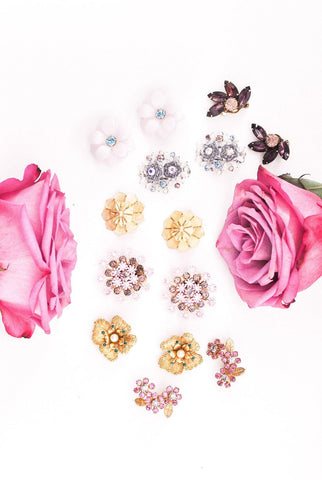 Mini Florals Burst Clip-on Earrings