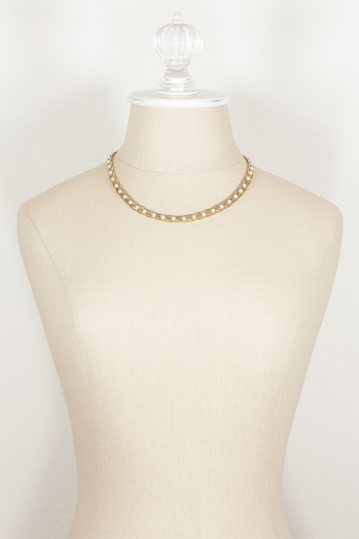 70's__Avon__Gold & Pearl Braided Necklace