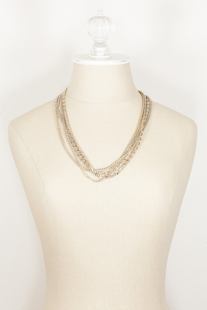 80's__Sarah Coventry__Lightweight Multi Strand Necklace