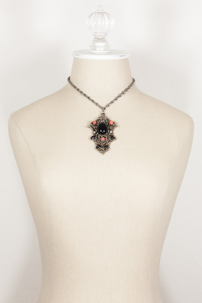 70's__Vintage__Statement Pendant Collar Necklace