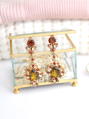 70s__Vintage__Glass Jewelry Box