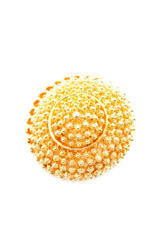 Gold Dome Brooch