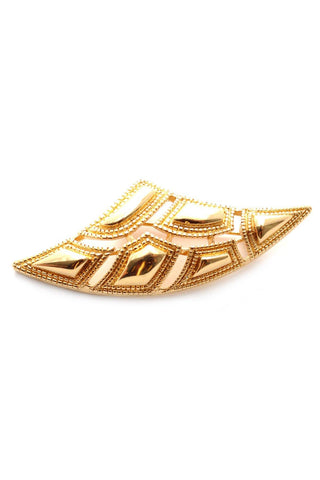 80s__Monet__Gold Brooch
