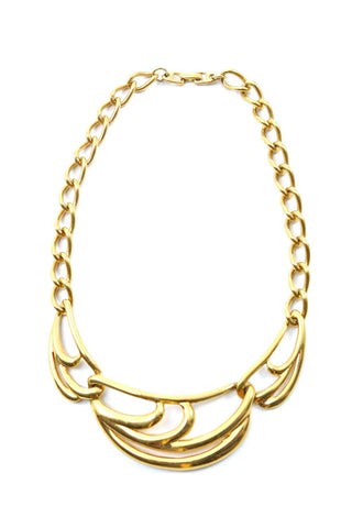80s__Napier__Gold Bar Necklace