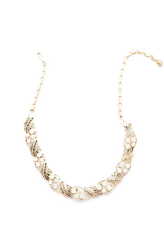 Crystal Leaf Necklace