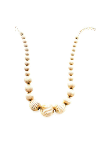 Gold Round Bauble Necklace