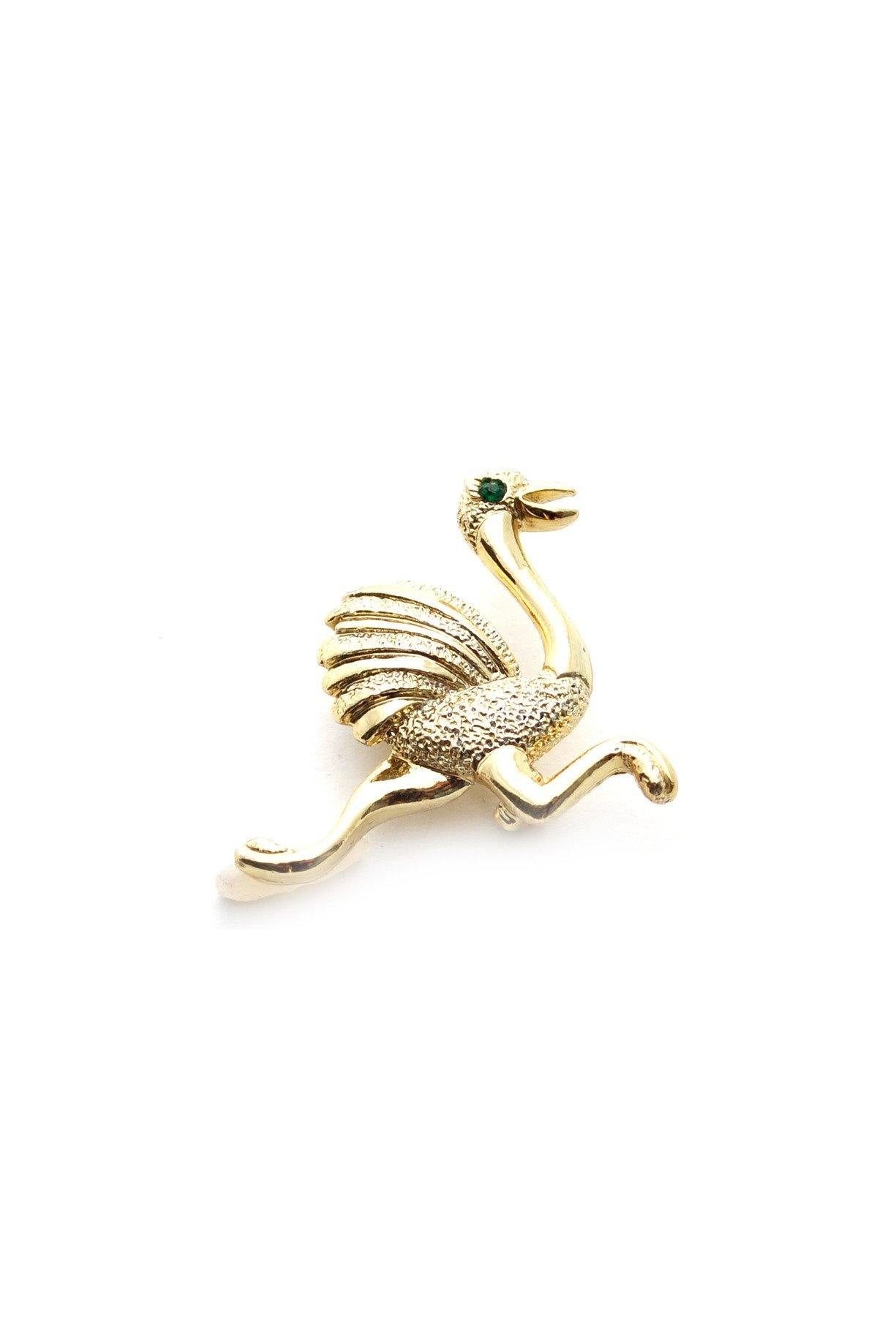 60s Gerry's Gold ostrich brooch