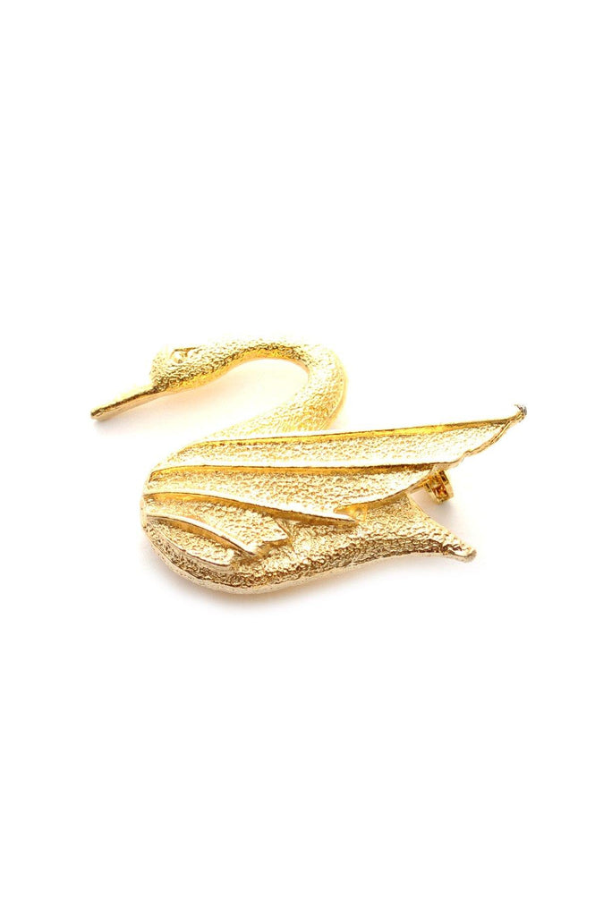 60s__DFA__Gold Swan Brooch