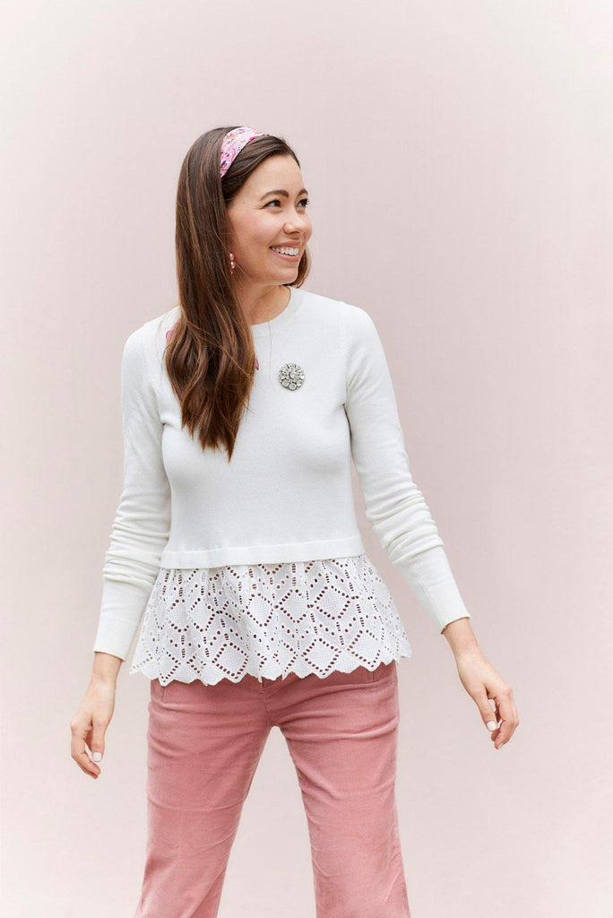 Heartloom Ines Eyelet Sweater