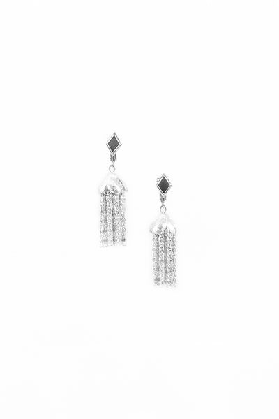 60's__Sarah Coventry__Silver Tassel Earrings