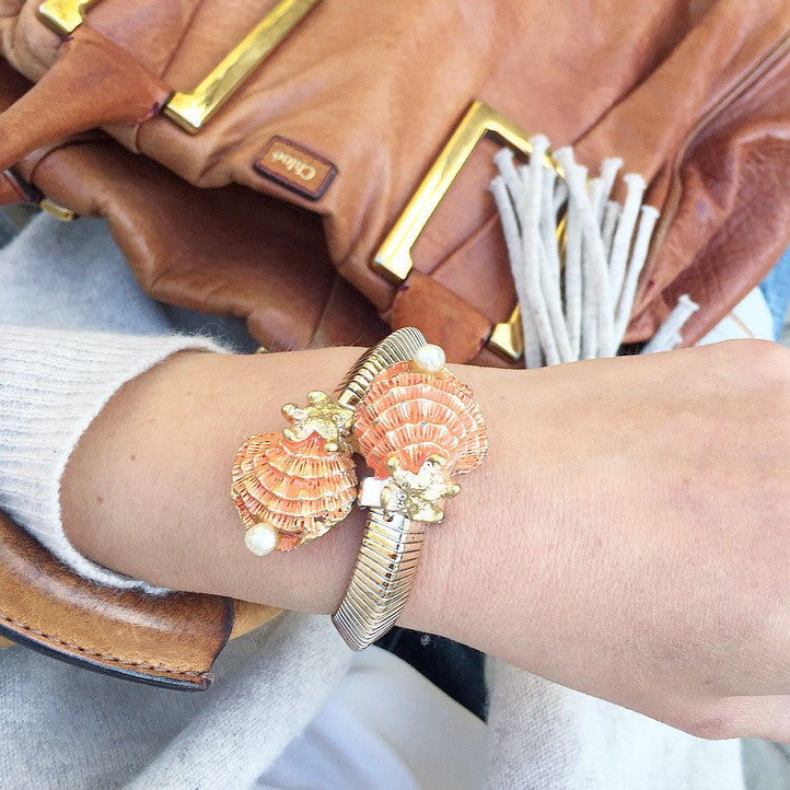 60's Seashell Statement Bracelet
