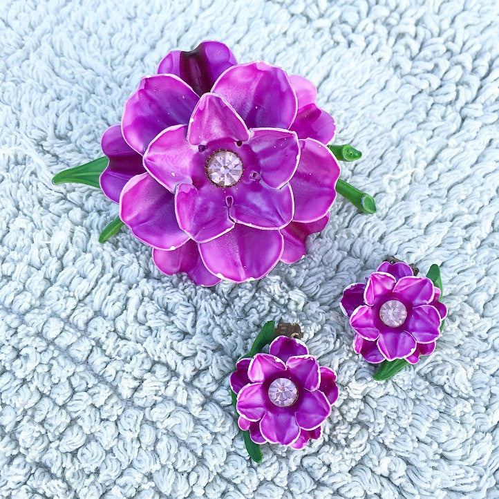 50's Statement Flower Earrings ONLY