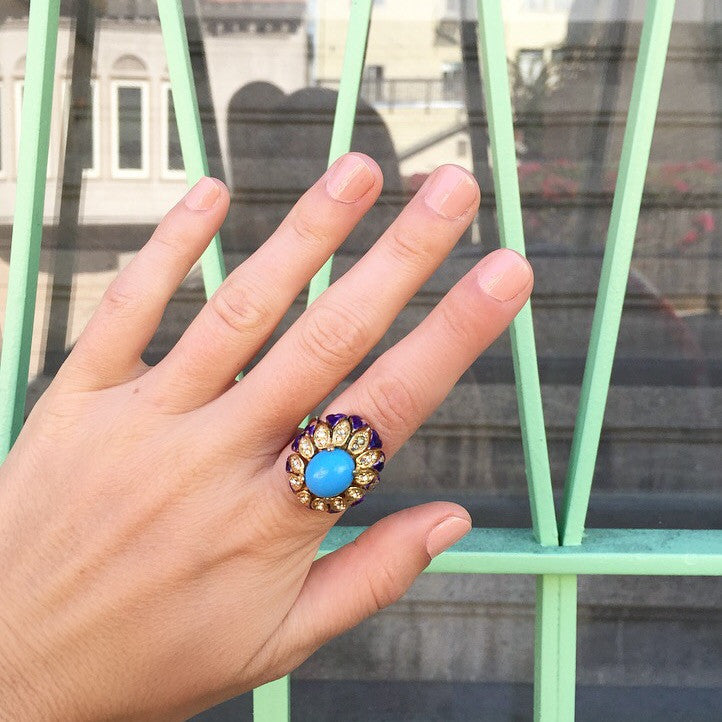 1960's Chunky Bauble Ring