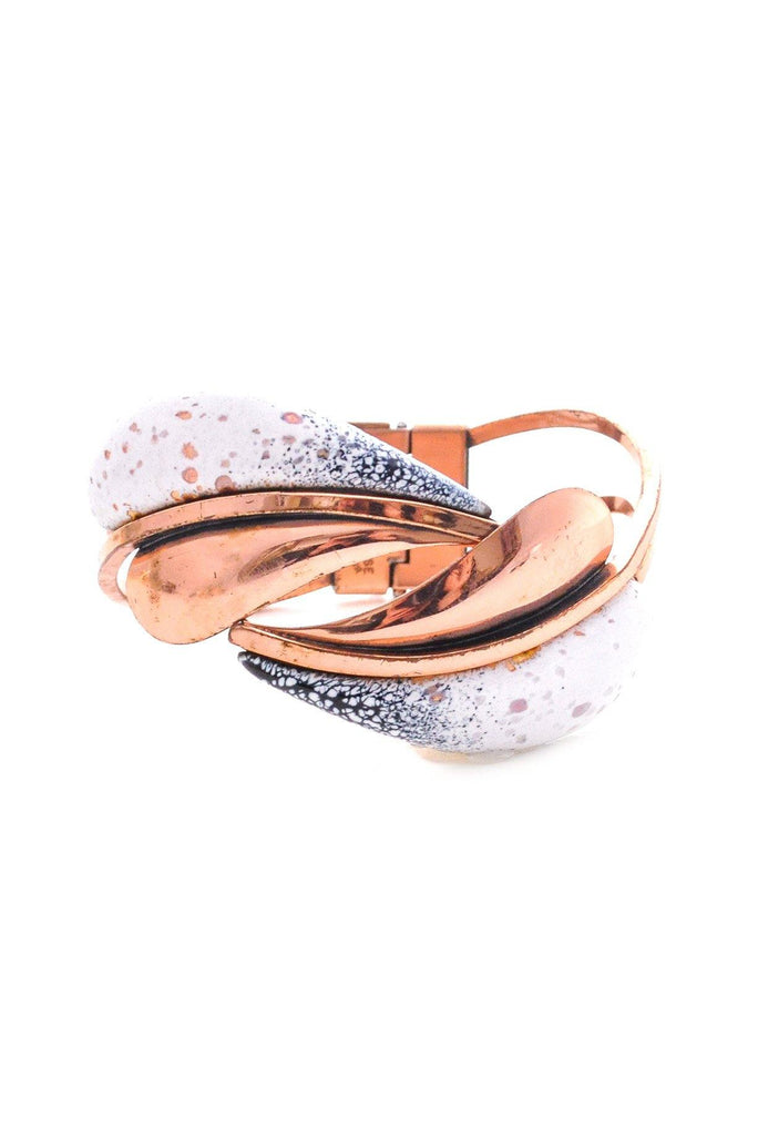 Copper Feather Cuff Bracelet