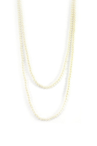 60's__Vintage__Long Pearl Necklace
