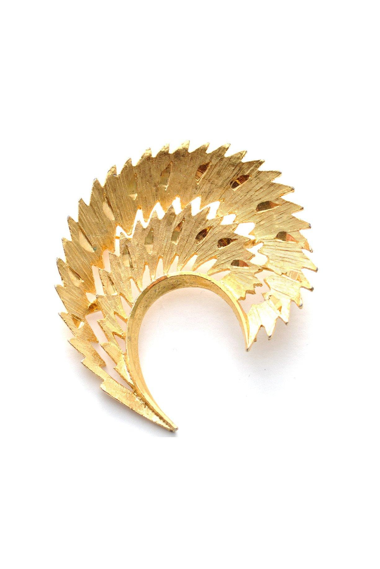 60s__Mamselle__Textured Gold Brooch