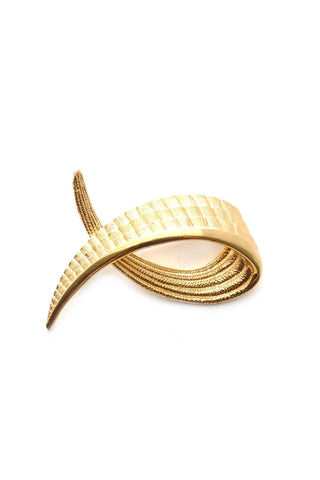 80s__Monet__Textured Gold Brooch