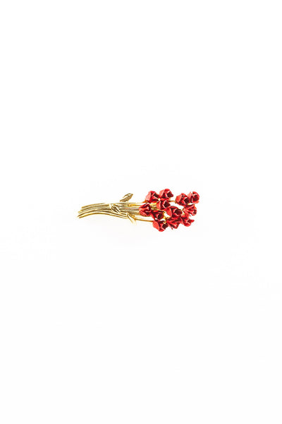 80's__Vintage__Red Rose Brooch