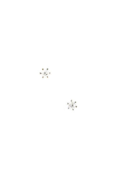 80's__Vintage__Snowflake Stud Earrings