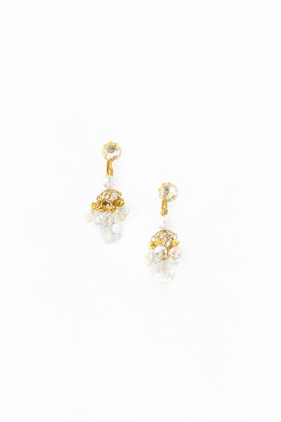 60's__Vendome__AB Crystal Cluster Clips