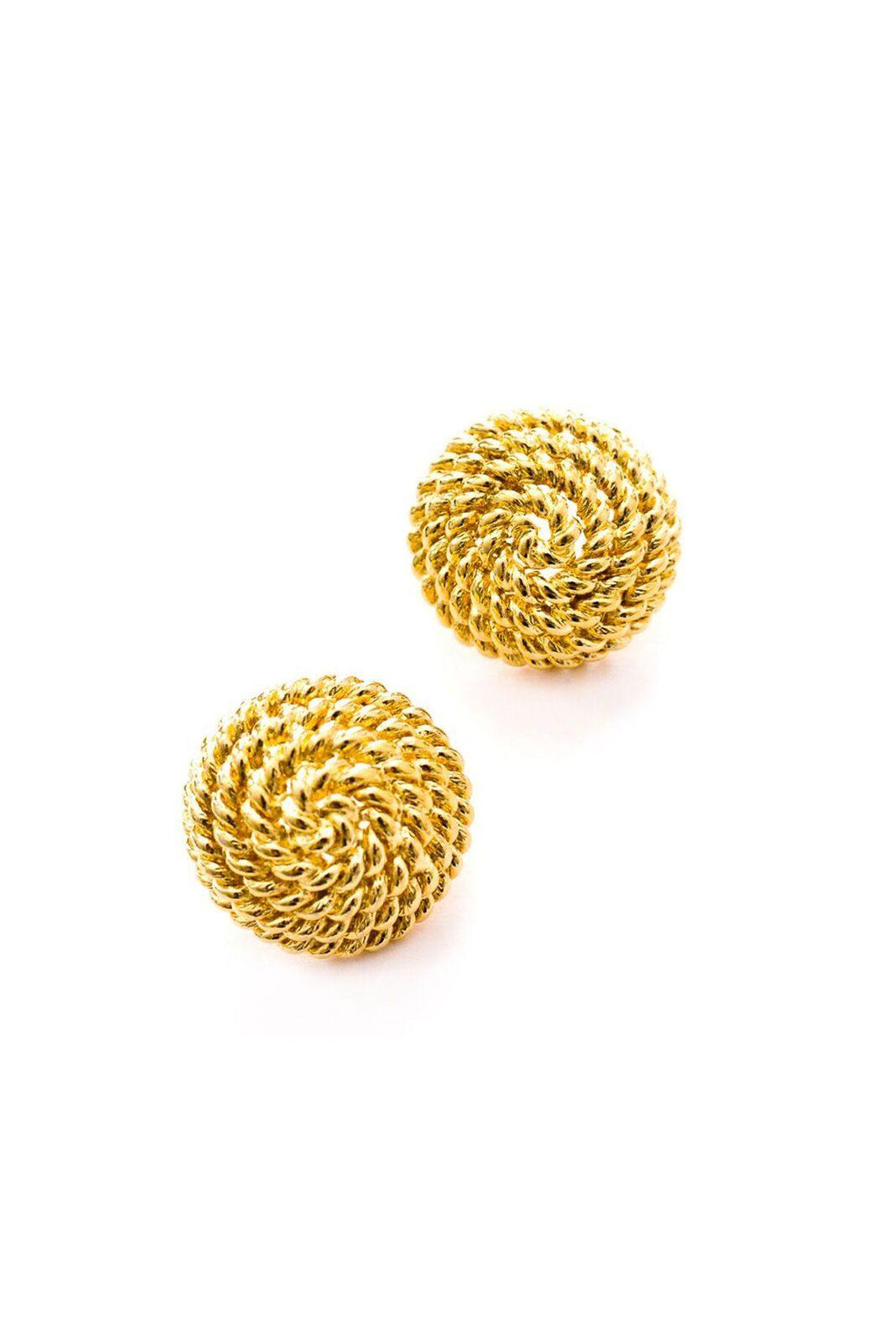 Round Rope Pierced Earrings