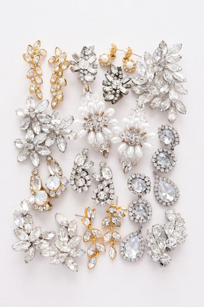 Classic Rhinestone Crawler Earrings