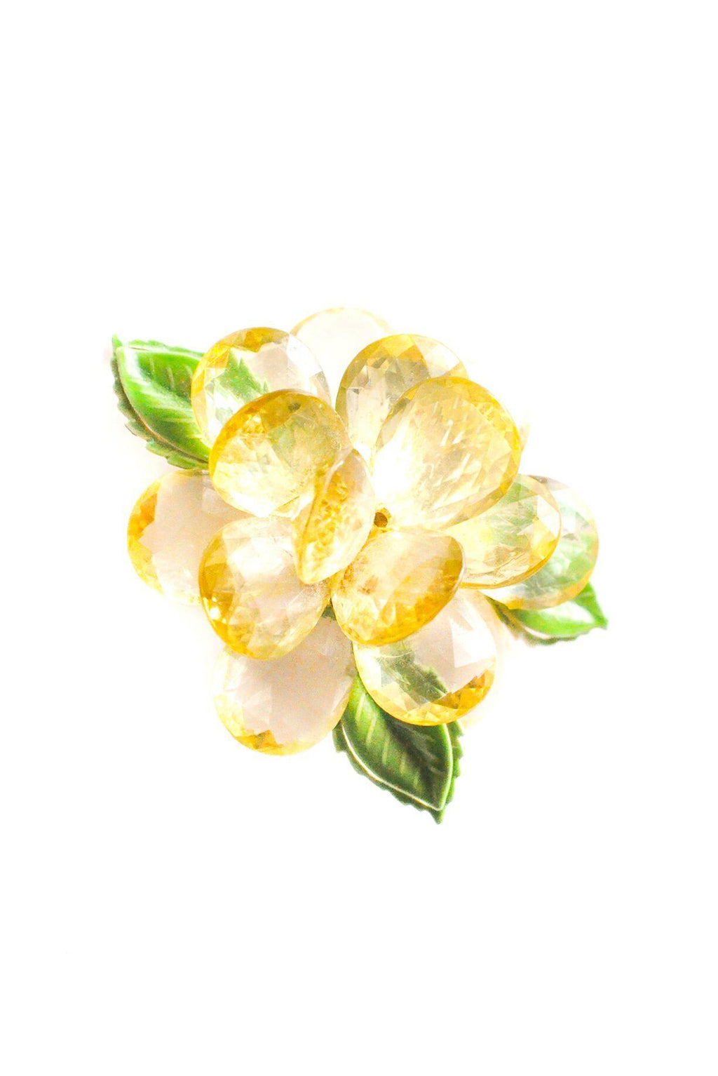 Yellow Floral Brooch