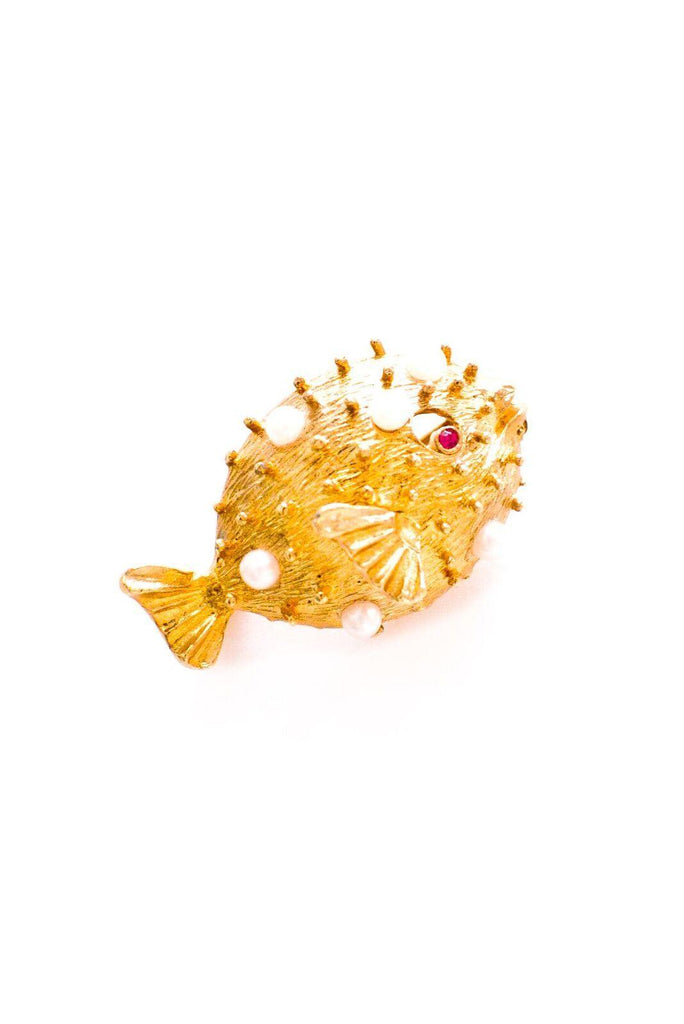 Blowfish Brooch