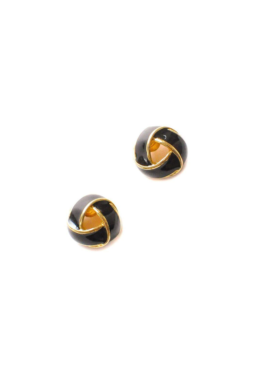 Black Knot Pierced Earrings