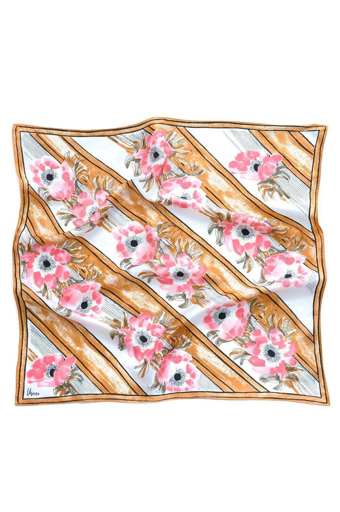 Floral Striped Square Scarf