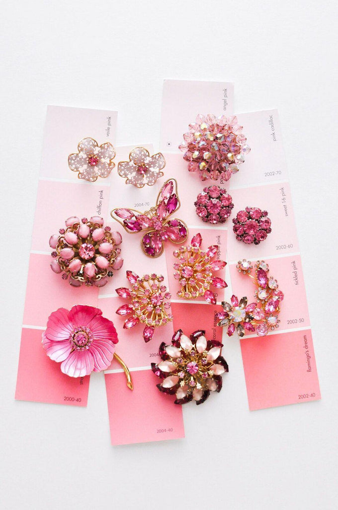 Pink Burst Brooch