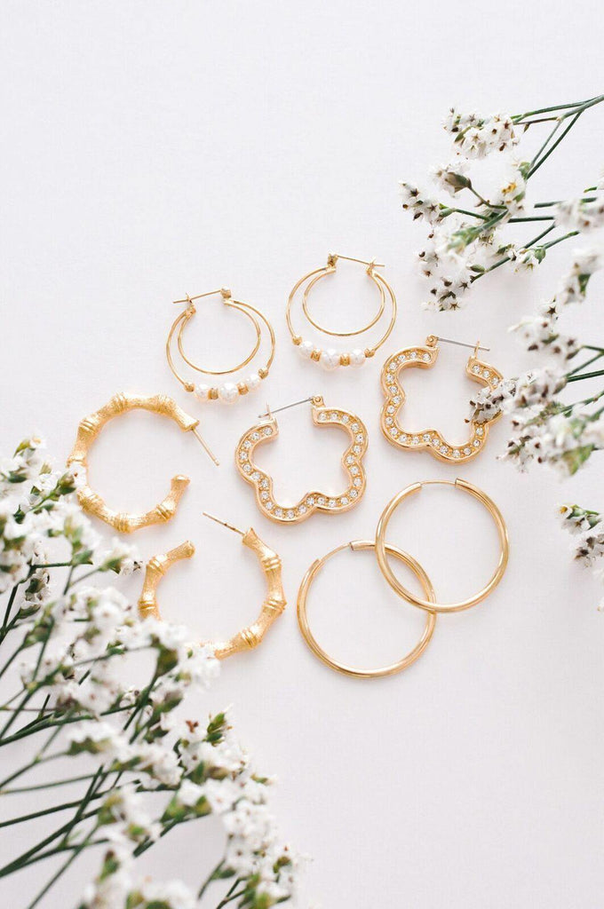 Classic Gold Hoop Pierced Earrings