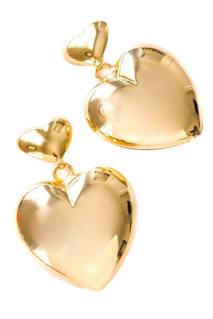 Statement Heart Clip-On Earrings