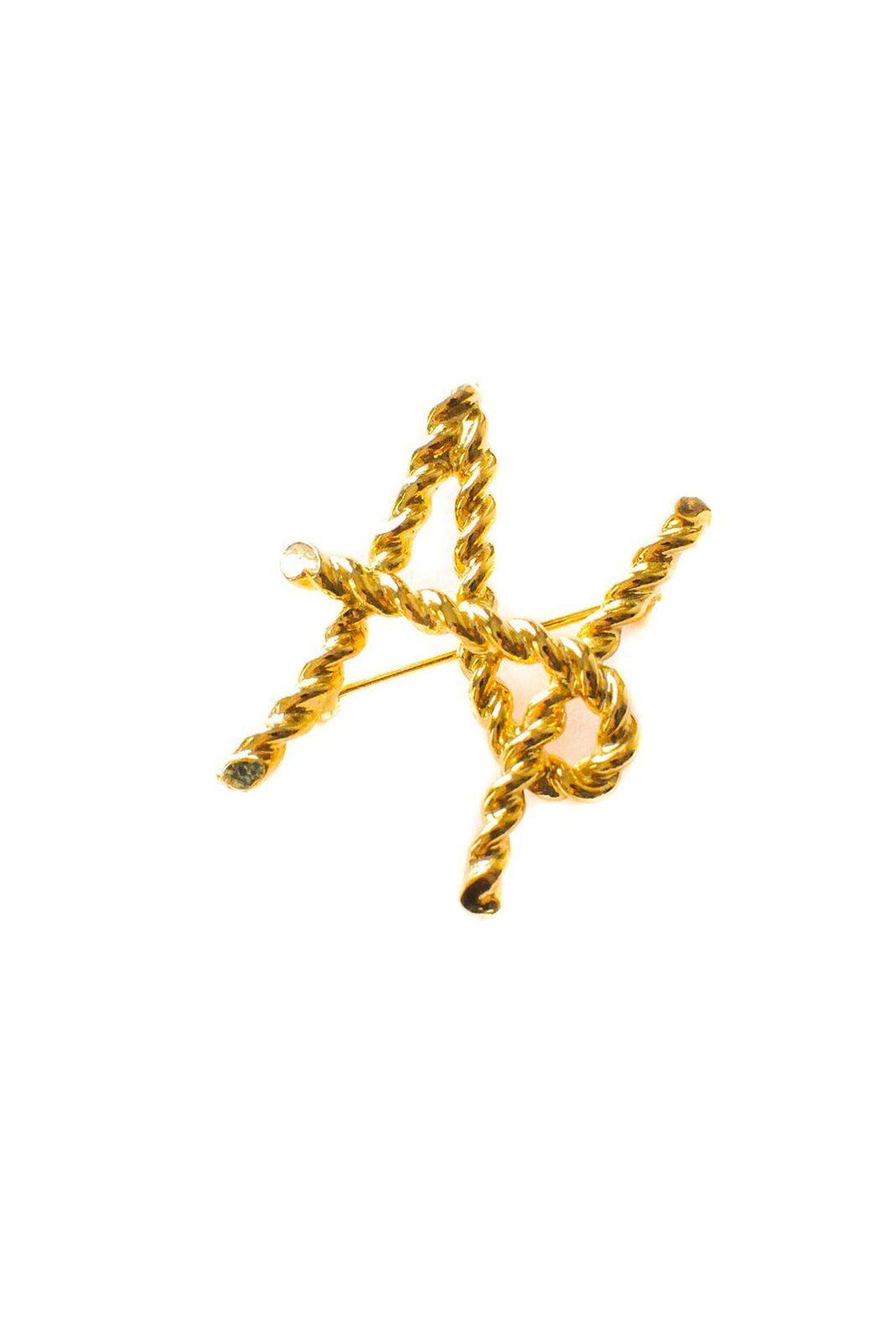 H Initial Brooch