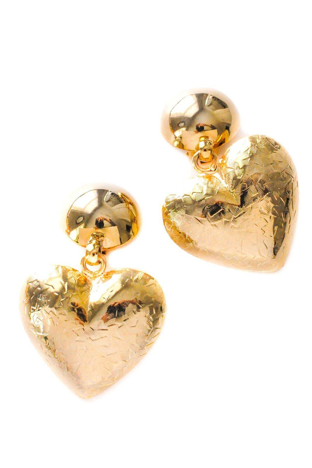 Puffy Heart Clip-On Earrings