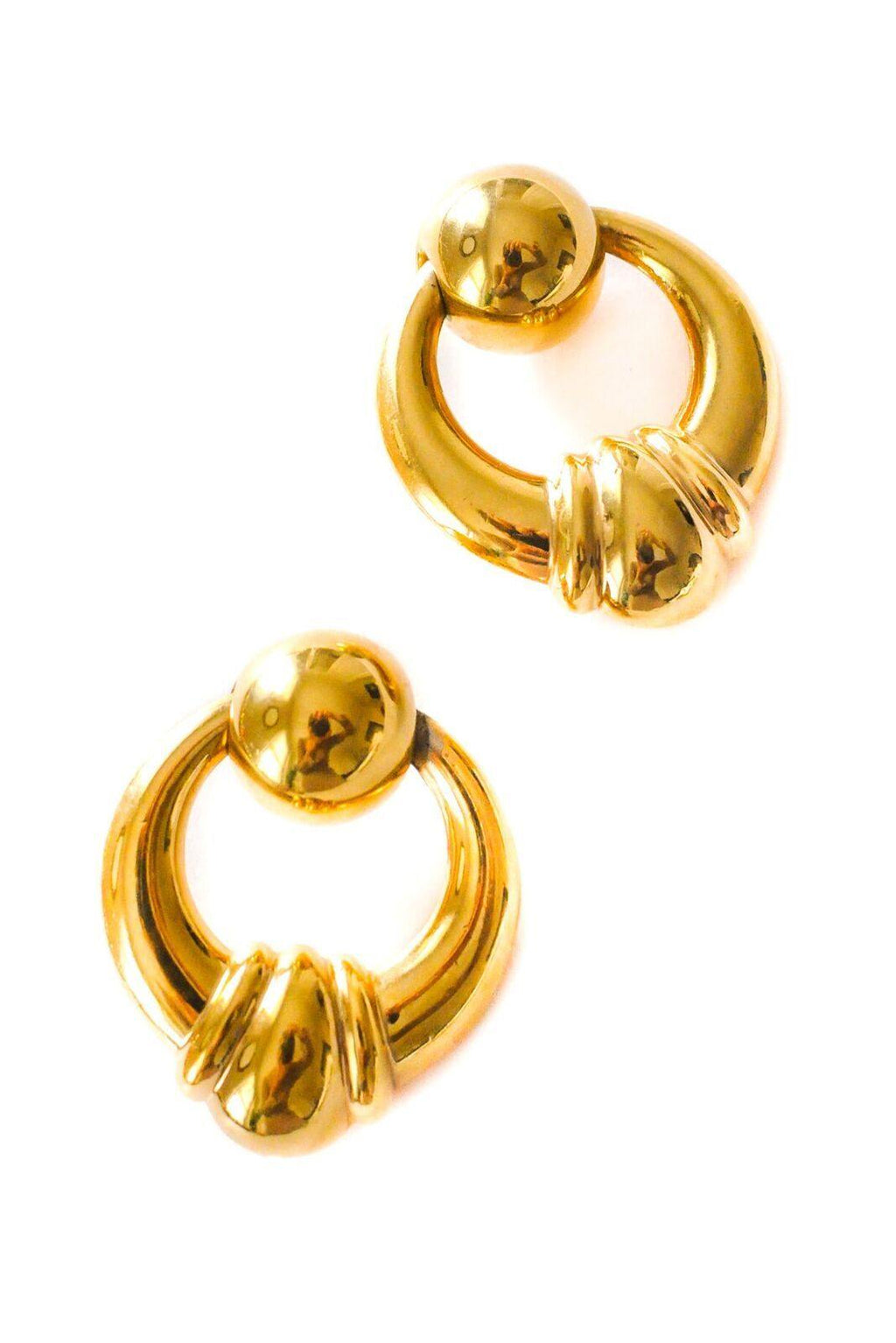 Door Knocker Pierced Earrings