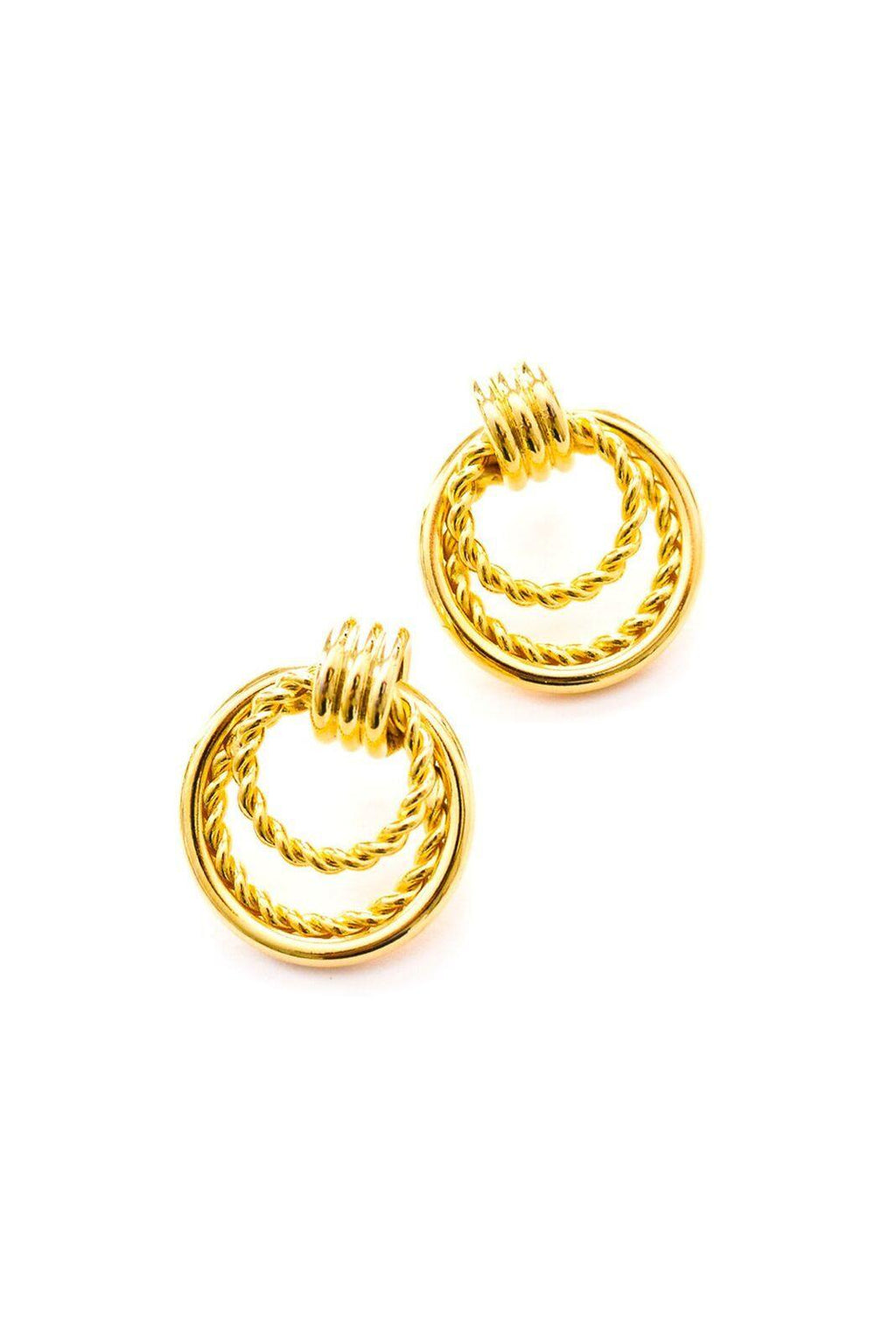 Rope Hoop Pierced Earrings