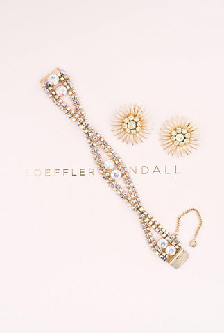 Sunburst Rhinestone Clip-on Earrings