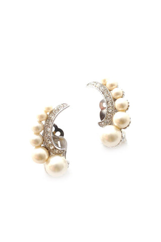 60s__Bogoff__Pearl Crawler Clip-On Earrings