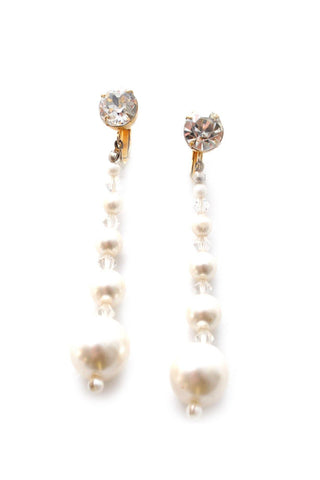 60s__Vintage__Statement Pearl Drop Clip-On Earrings