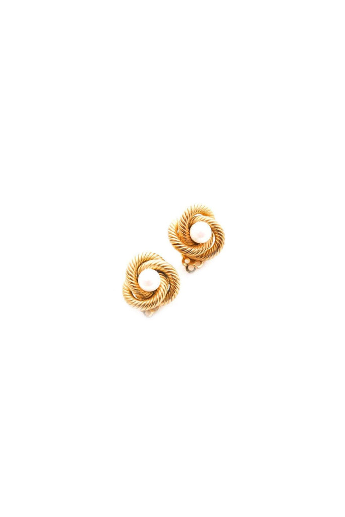Classic Pearl Knot Clip-on Earrings