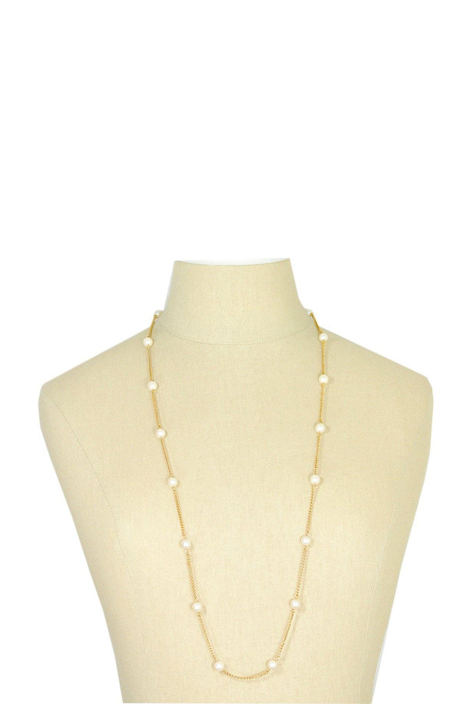 70's__Sarah Coventry__Pearl Chain Necklace