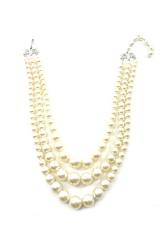 50's__Vintage__Multi-Strand Pearl Necklace