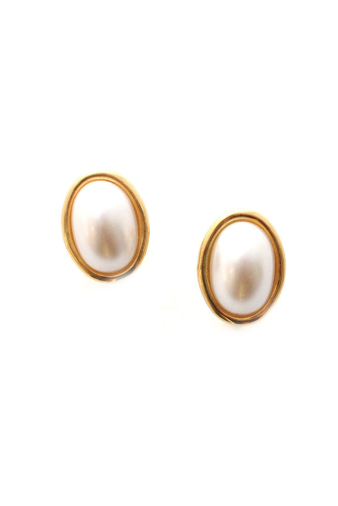 70s__Napier__Pearl Clip-On Earrings