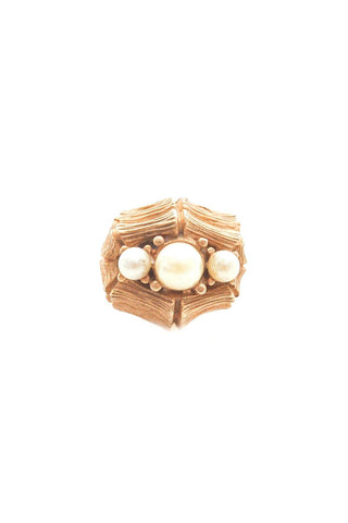 Adjustable Pearl Cocktail Ring