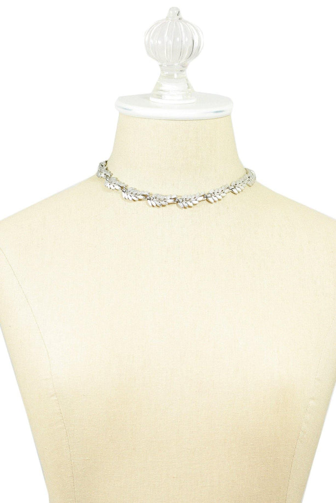 50's__Trifari__Leaf Choker Necklace