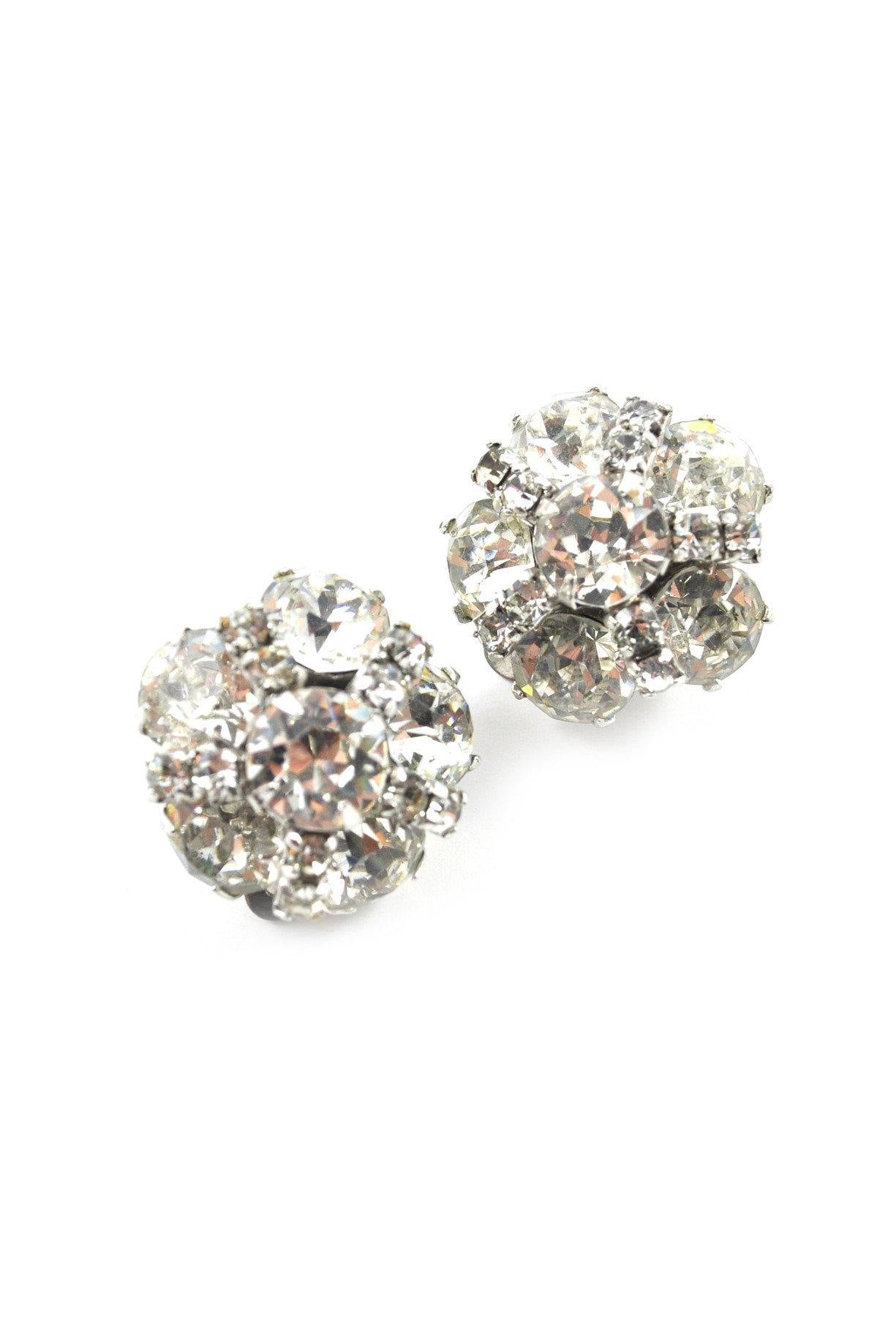 60s__Kramer__Rhinestone Burst Clip-On Earrings